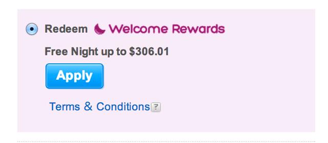 Welcome Rewards 1