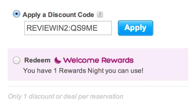 Welcome Rewards 2