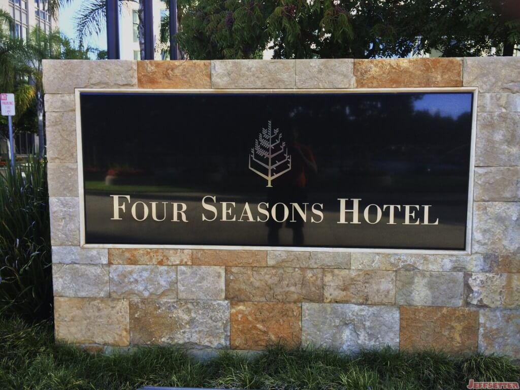 Four Seasons Silicon Valley Welcome Sign