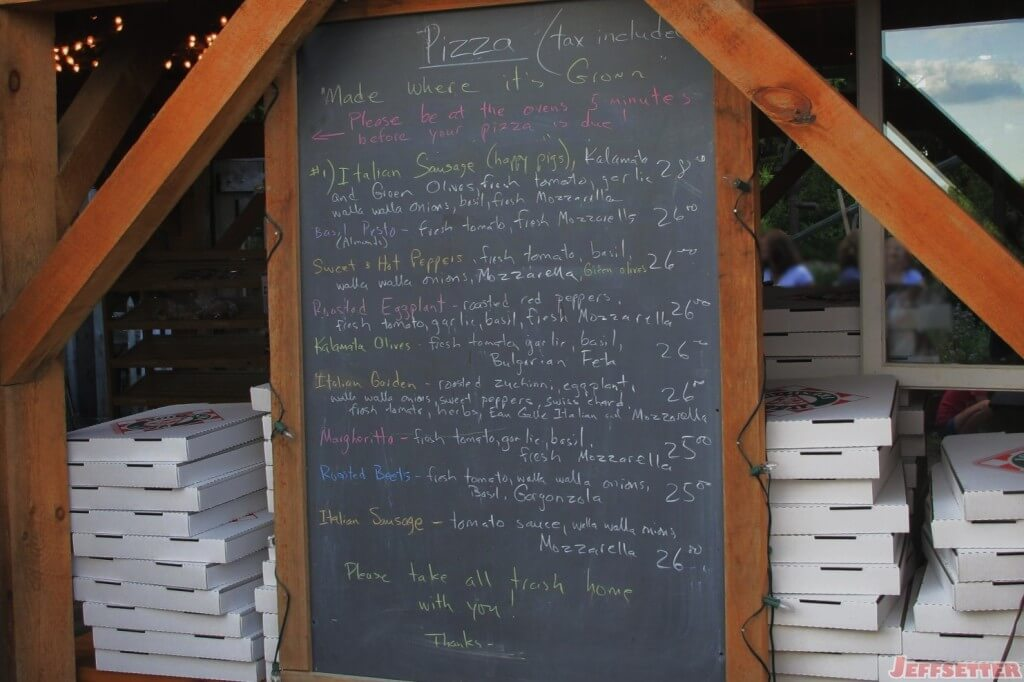 The Pizza Menu for the Day