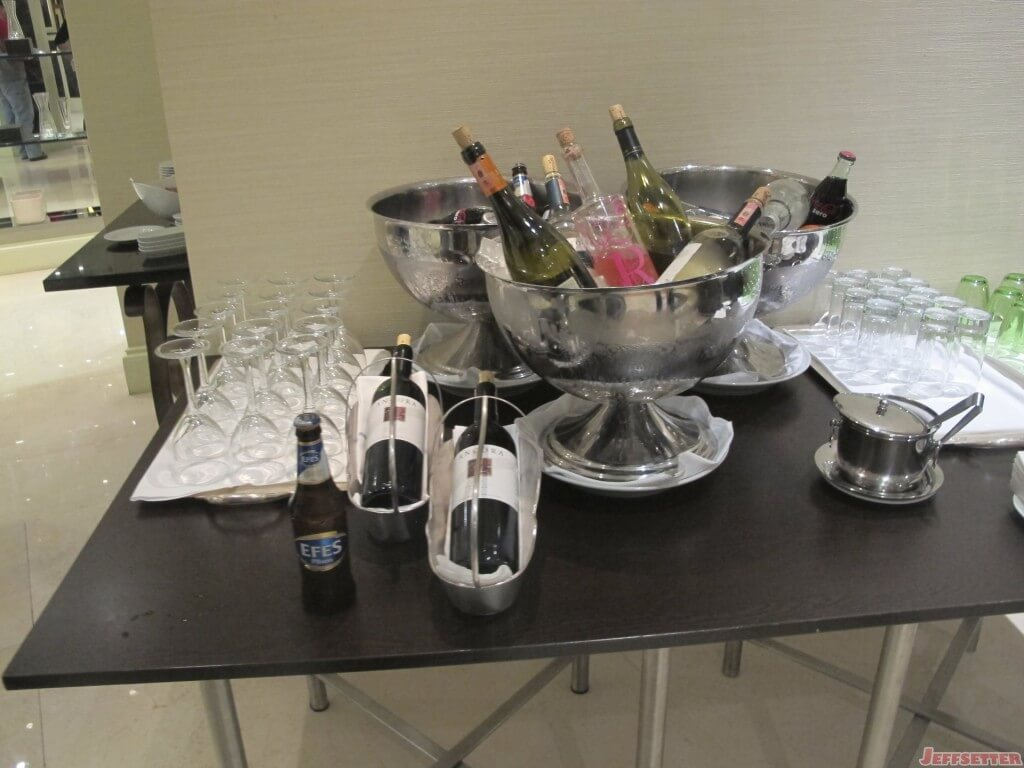Wine and Beverages in Lounge