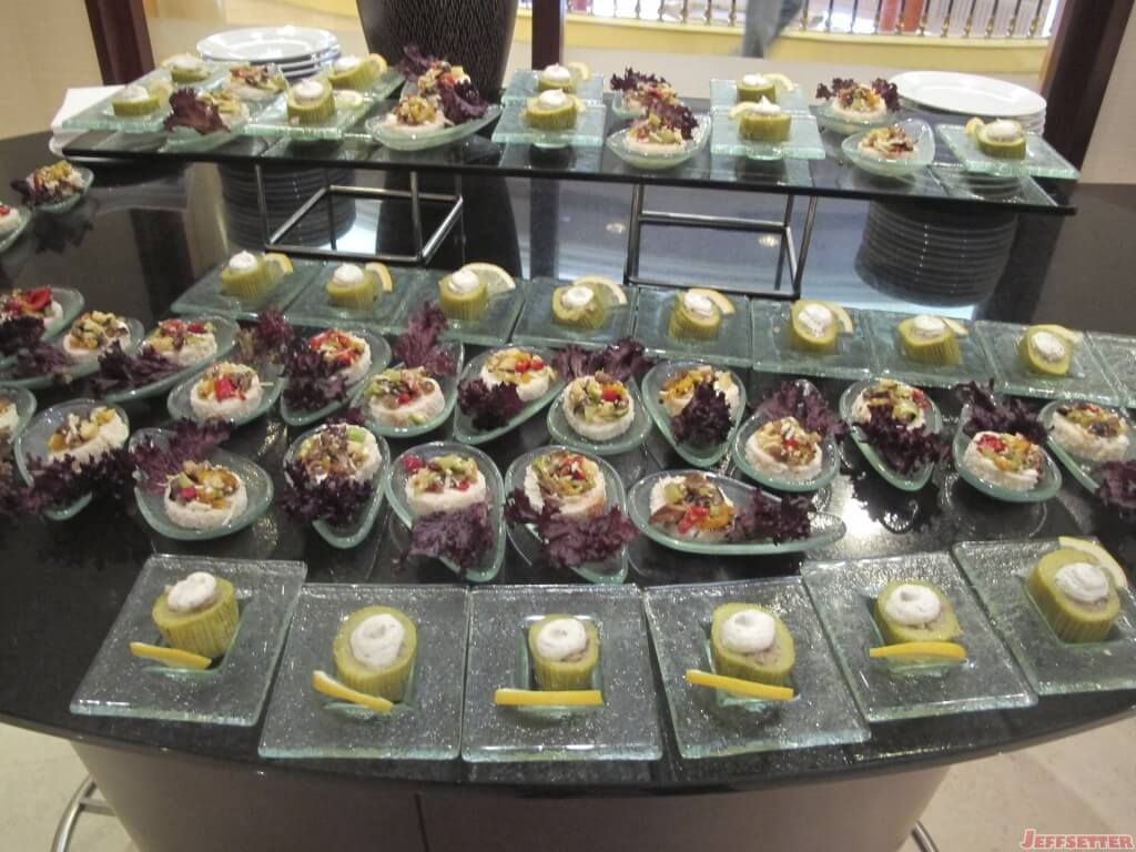 More food in the Executive Lounge