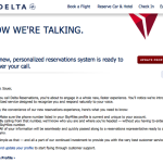 Delta Personalized Reservation System Saves Time, is Less Annoying