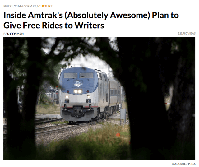 Amtrak Writers Plan