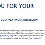 Selecting My 2014 Delta Platinum Medallion Choice Benefit