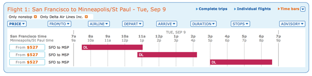 SFO to MSP Paid Tickets