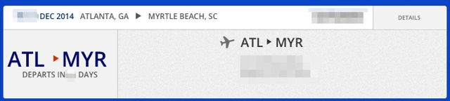 Atlanta to Myrtle Beach
