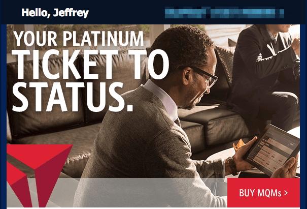 Delta Ticket to Platinum Status