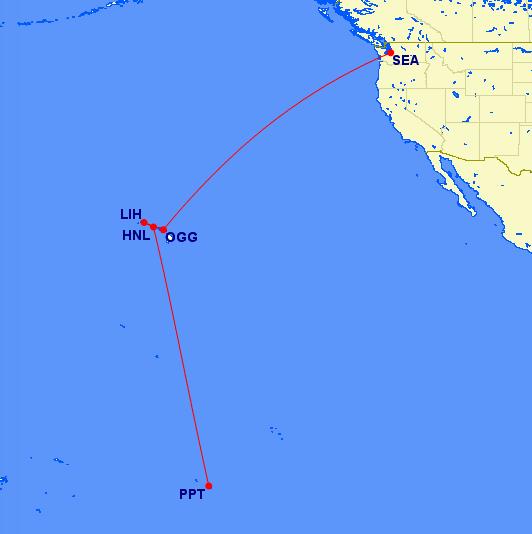 Hawaii and Papeete Trip