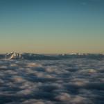 European Alps Emerging Through The Clouds