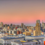 San Francisco Financial District at Sunset