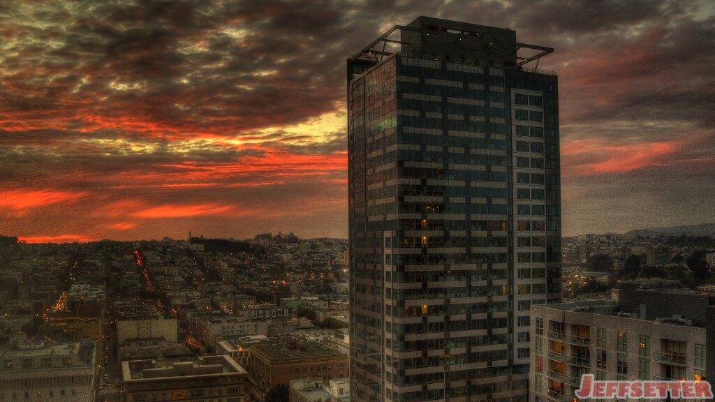Sunset on San Francisco Skyscraper
