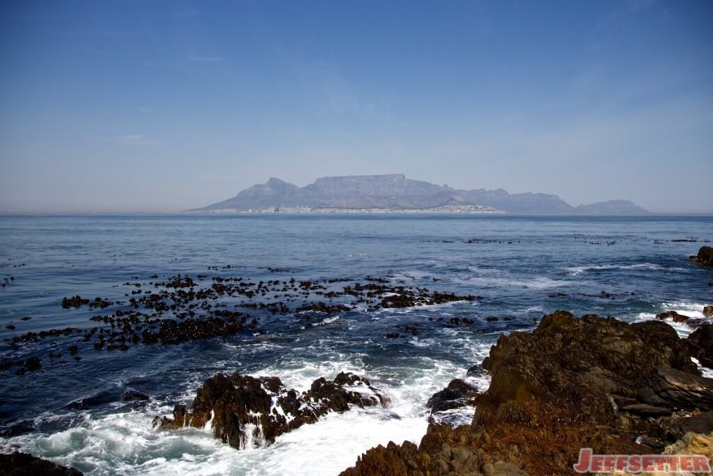 Table Mountain from Robben Island Cape Town
