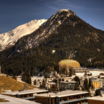 View of Intercontinental Hotel in Davos, Switzerland