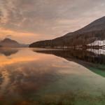 Sunrise on Lake Fuschl, Austria