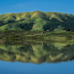 Nicasio Reservoir Reflection in Marin County, California