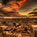 Storm Over San Francisco at Sunset – February 28, 2015