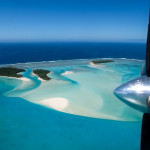 Flying Over Aitutaki in the Cook Islands