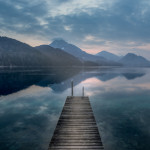 Mountain Reflections on Lake Fuschl, Austria