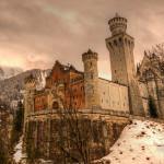 Front View of Neuschwanstein Castle in Winter