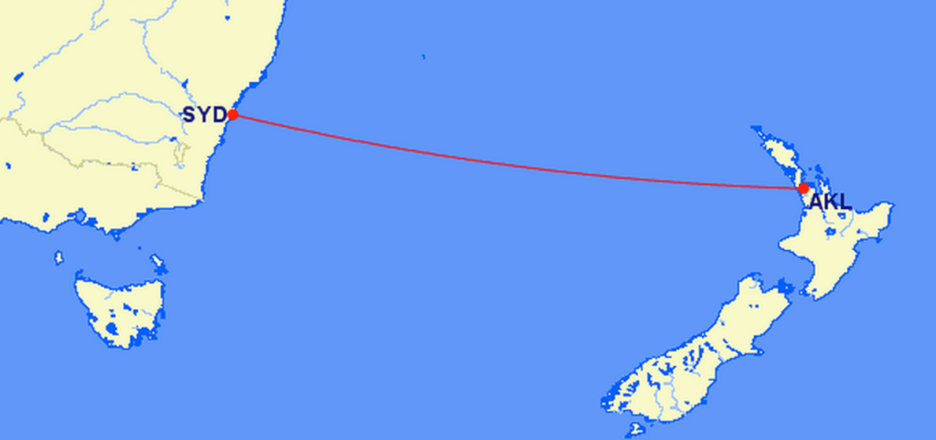 Auckland to Sydney Direct Route