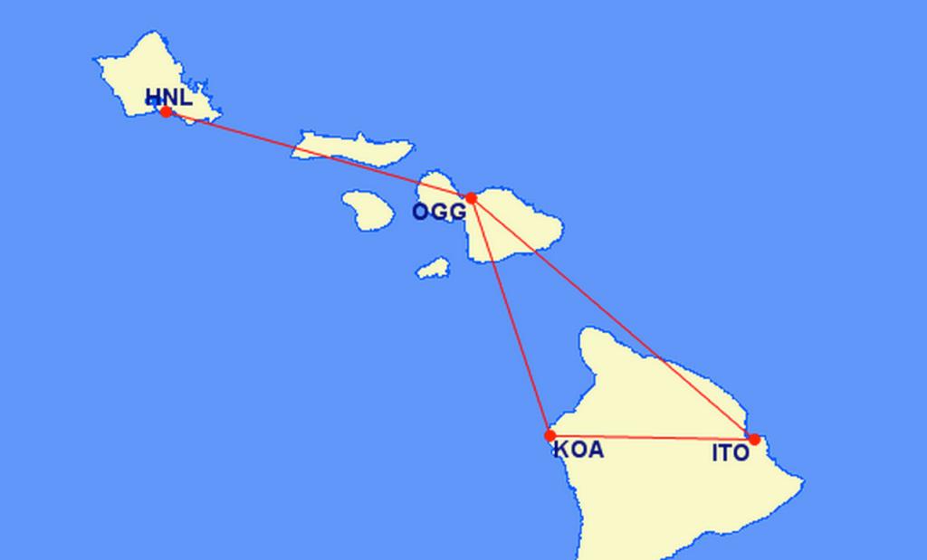 Hawaiian Flight Map