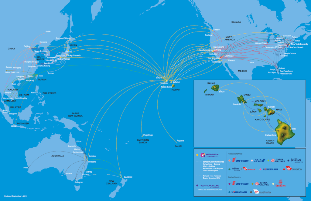 Hawaiian Route Map