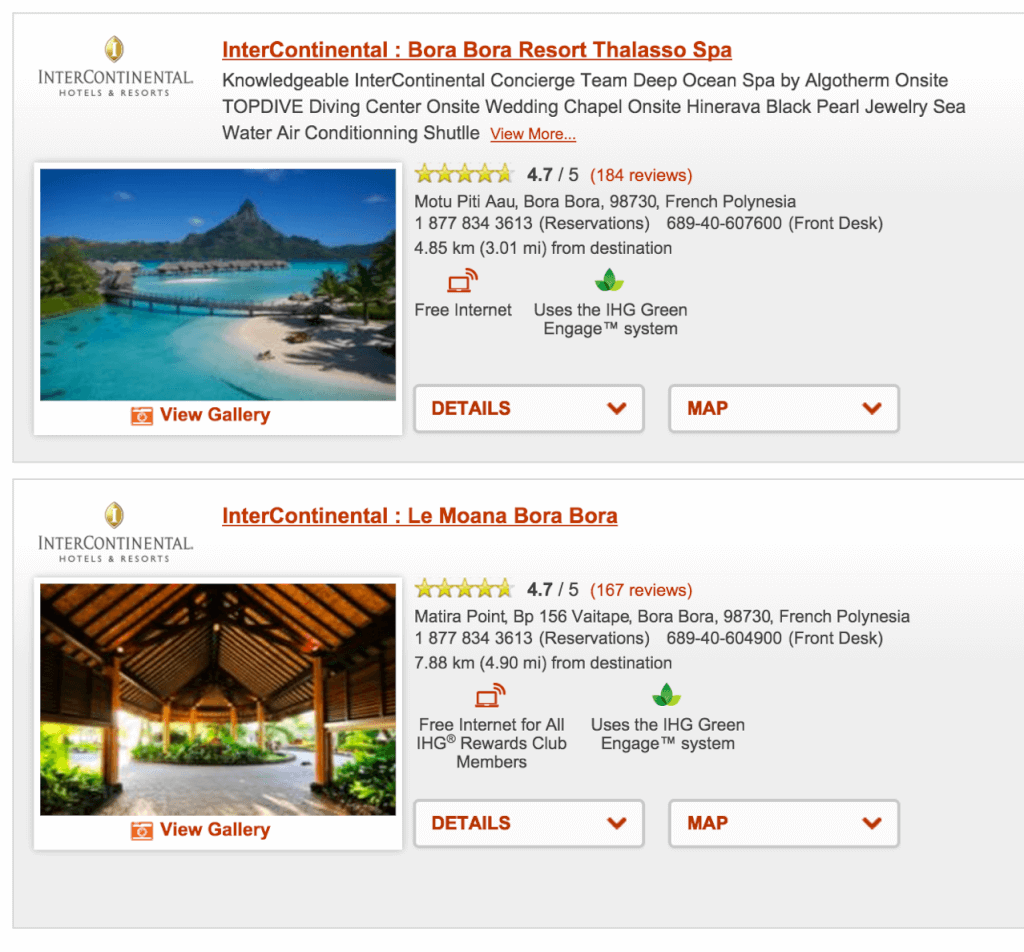 Intercontinental in Bora Bora