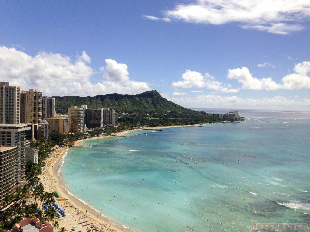 View from the Sheraton Waikiki lounge