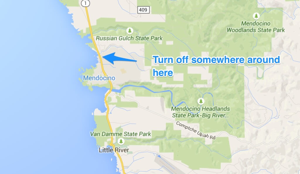 Turn off Point Mendocino Coast