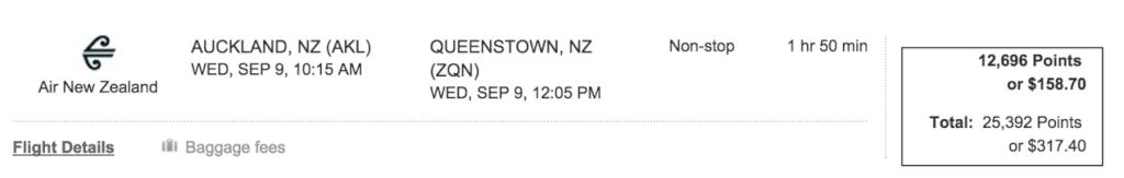 Air New Zealand ThankYou Points