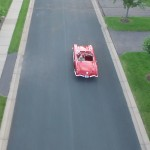 An American Classic Car as Seen by Drone (1960 Corvette from Above)