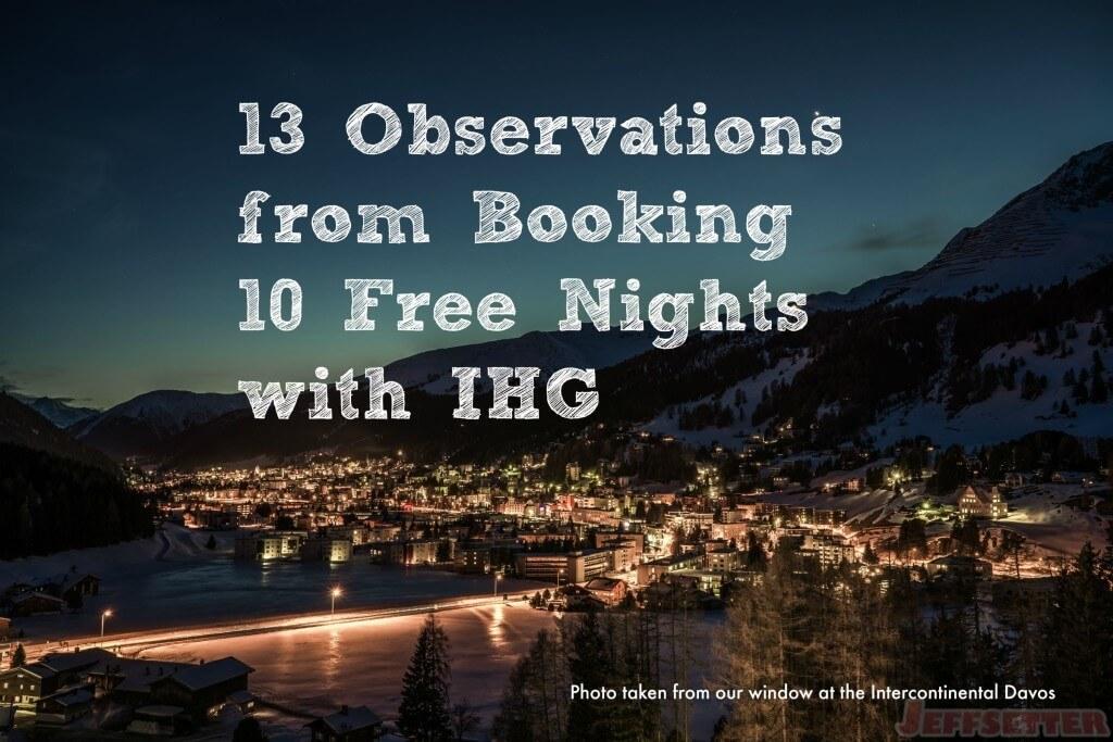 13 Observations IHG