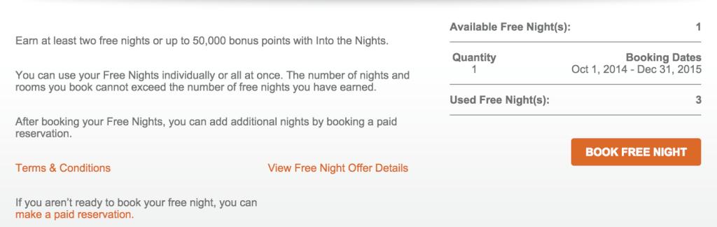 Available Free Nights IHG