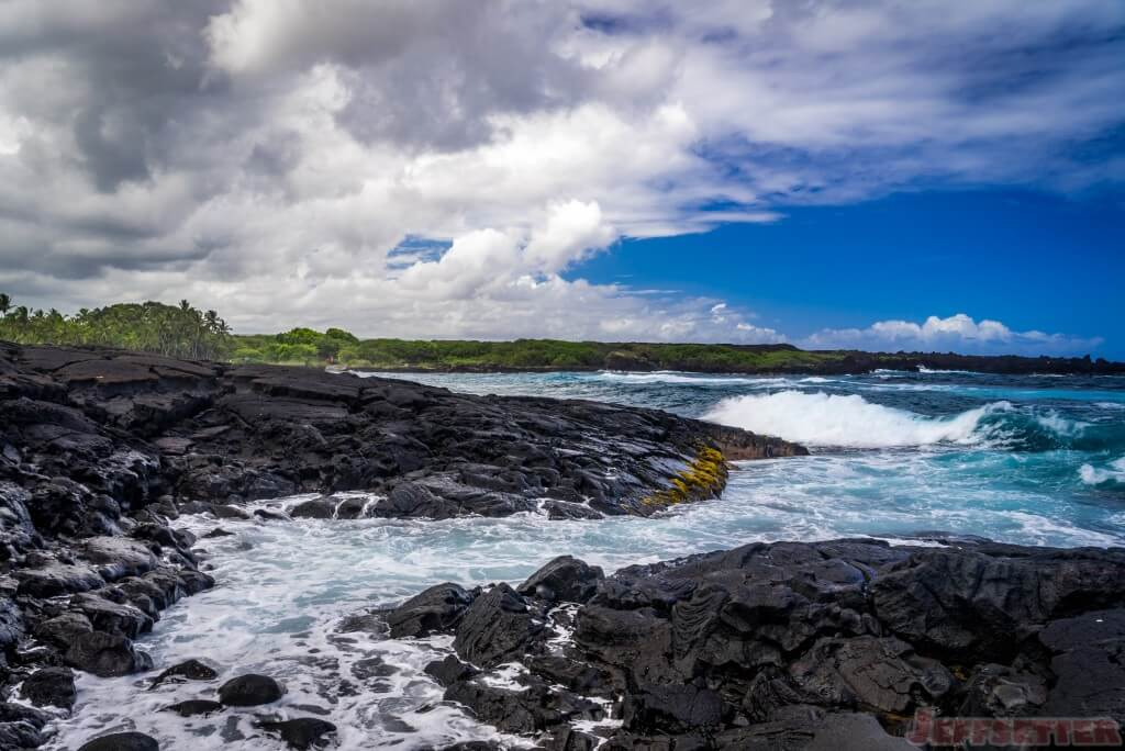 Hawaii Big Island Punaluu Black Sand Beach-13