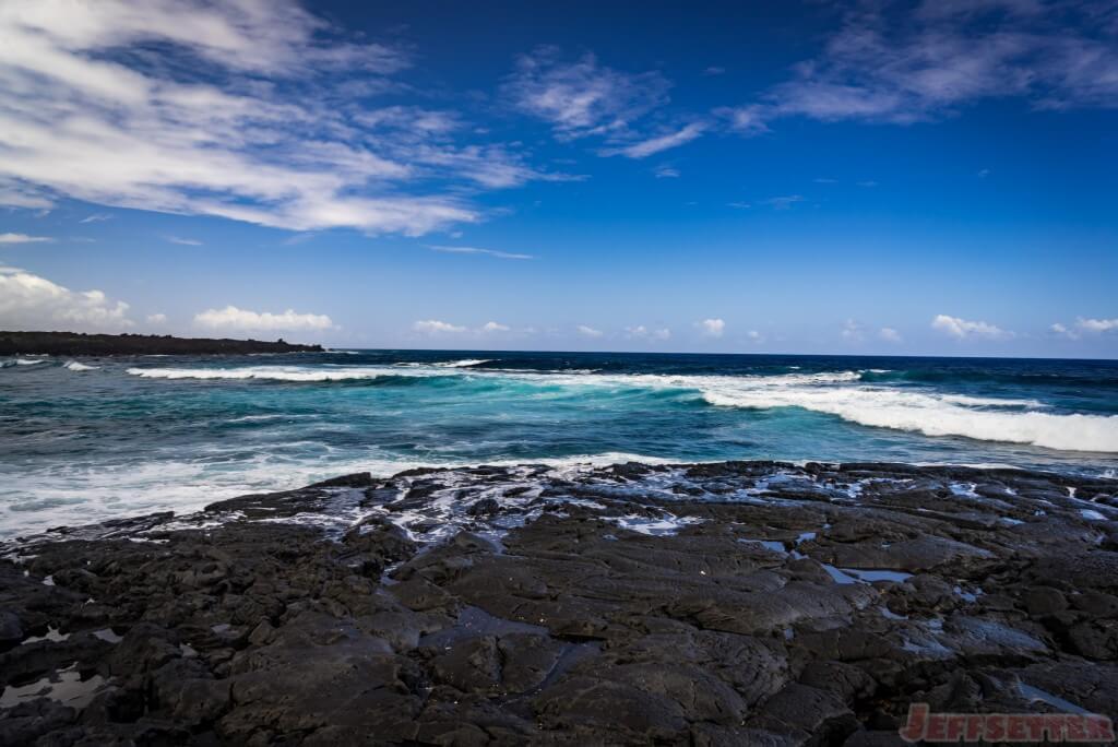 Black Sand Beach Big Island Sea Turtles