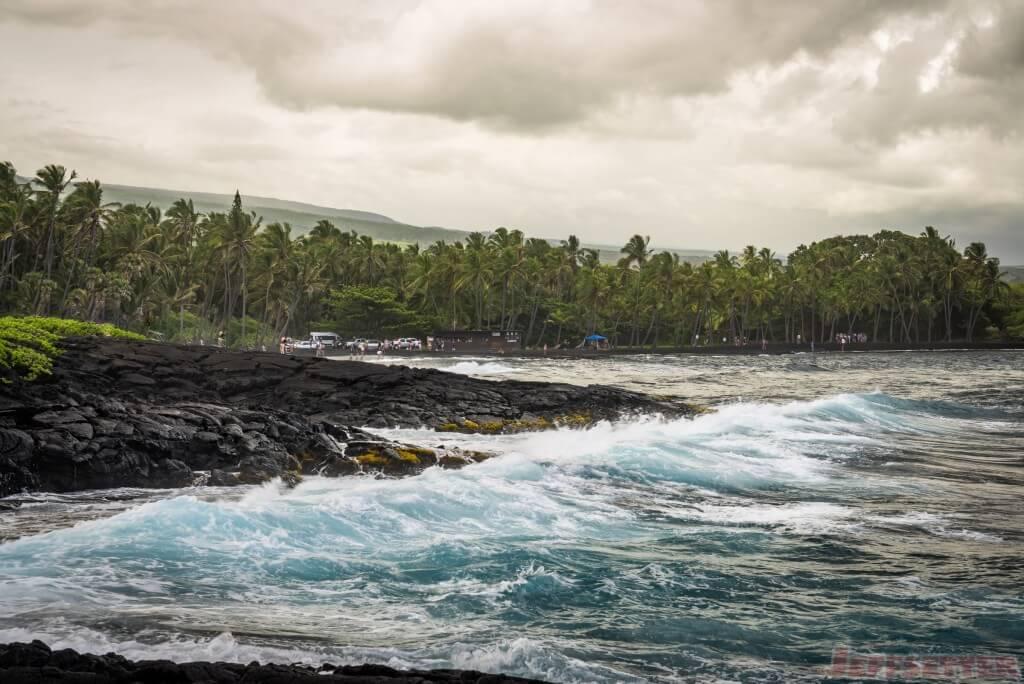 Hawaii Big Island Punaluu Black Sand Beach-4