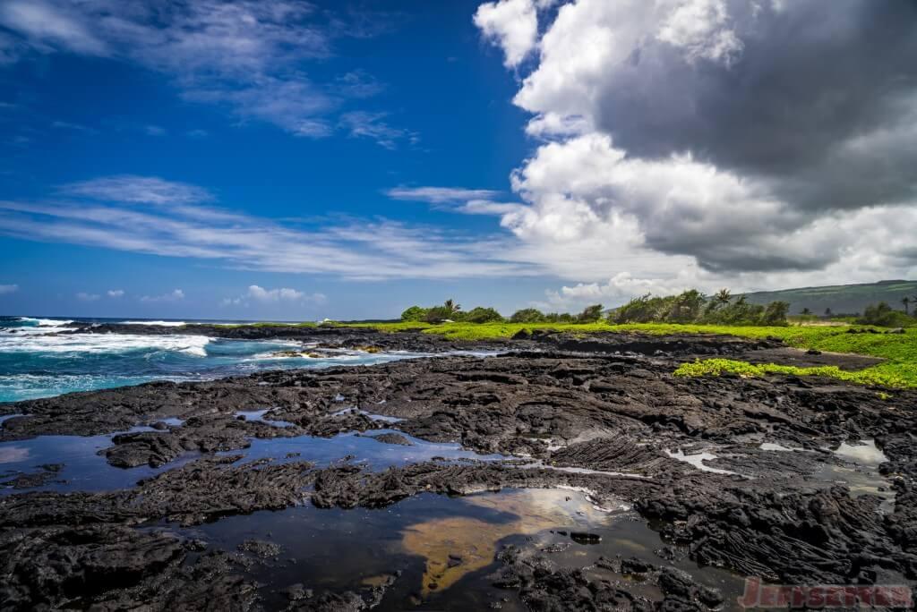Hawaii Big Island Punaluu Black Sand Beach-7