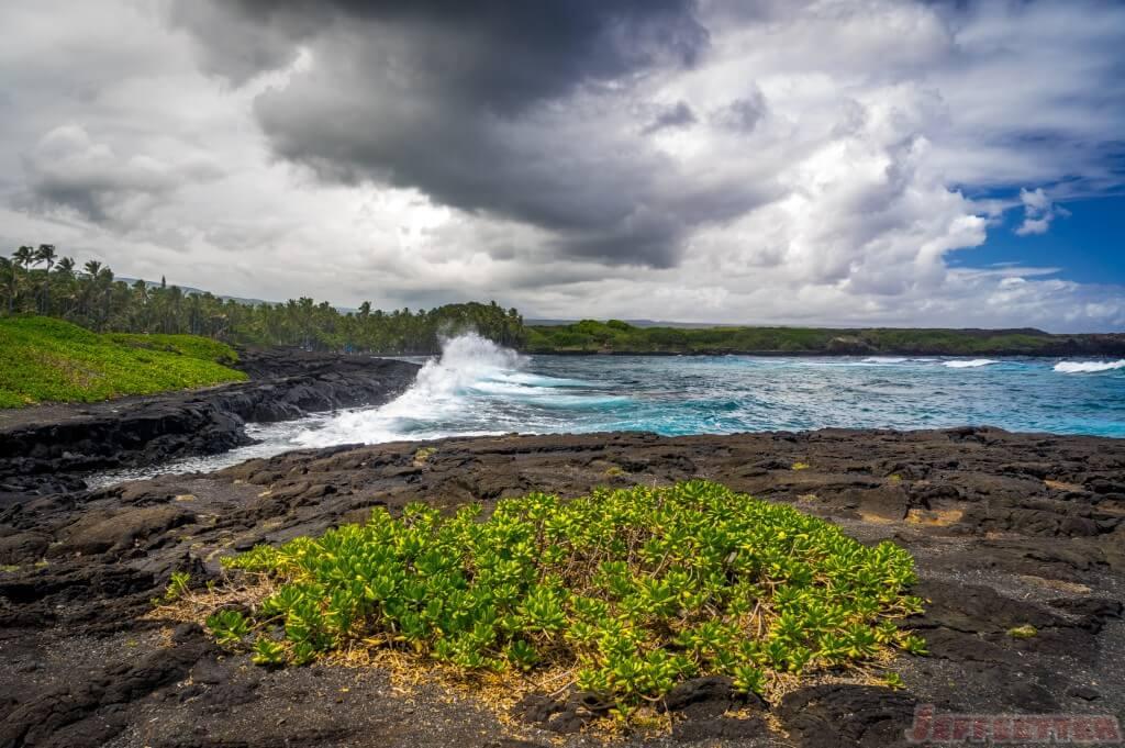 Hawaii Big Island Punaluu Black Sand Beach-8
