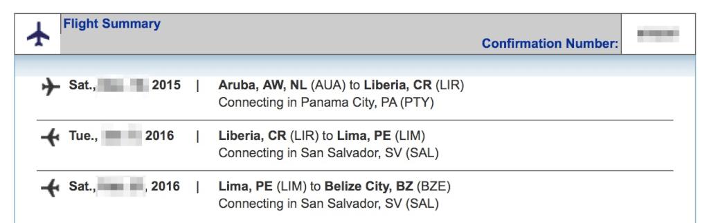 Latin Hopper Flight Booking