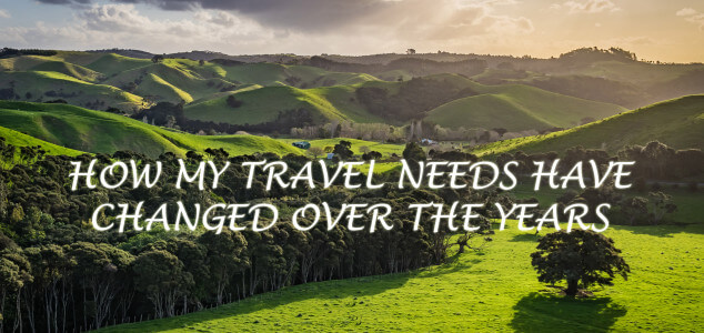 From Massive Debt to Expense Accounts to Full Time Nomad: How My Travel Needs Have Changed Over the Years