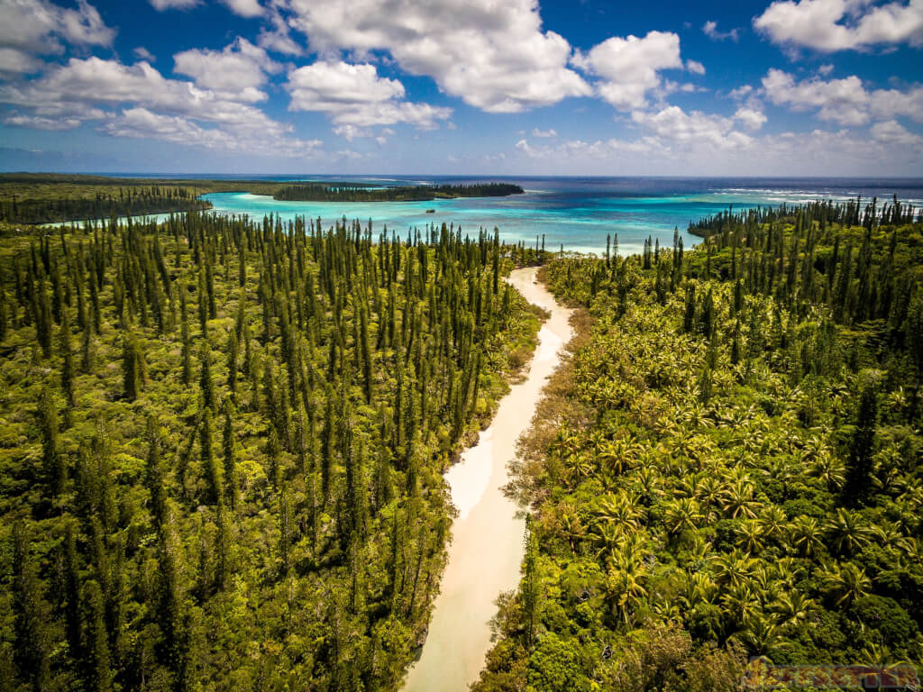 Aerial View Of The Isle Of Pines In New Caledonia