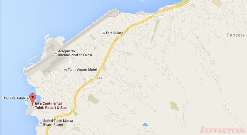 InterContinental Tahiti Resort Google Maps