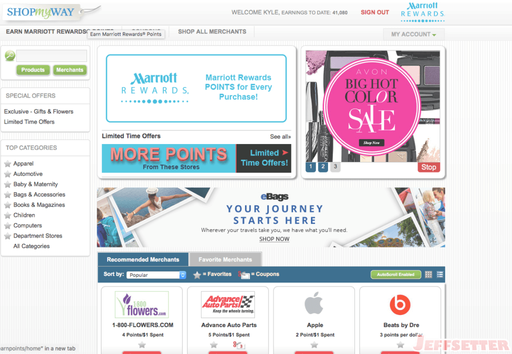 Marriott Rewards ShopMyWay