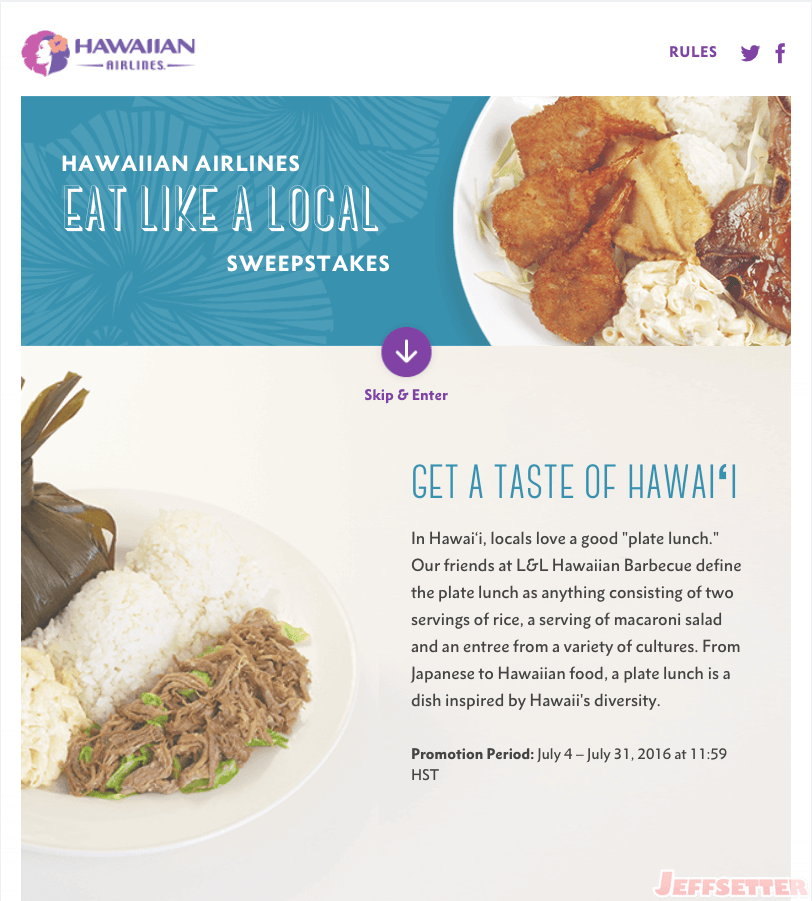 Eat Like a Local Sweepstakes - Jeffsetter Travel