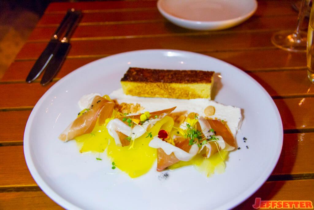 Maui Gold Pineapple. House charcuterie, chèvre, sweet toast.