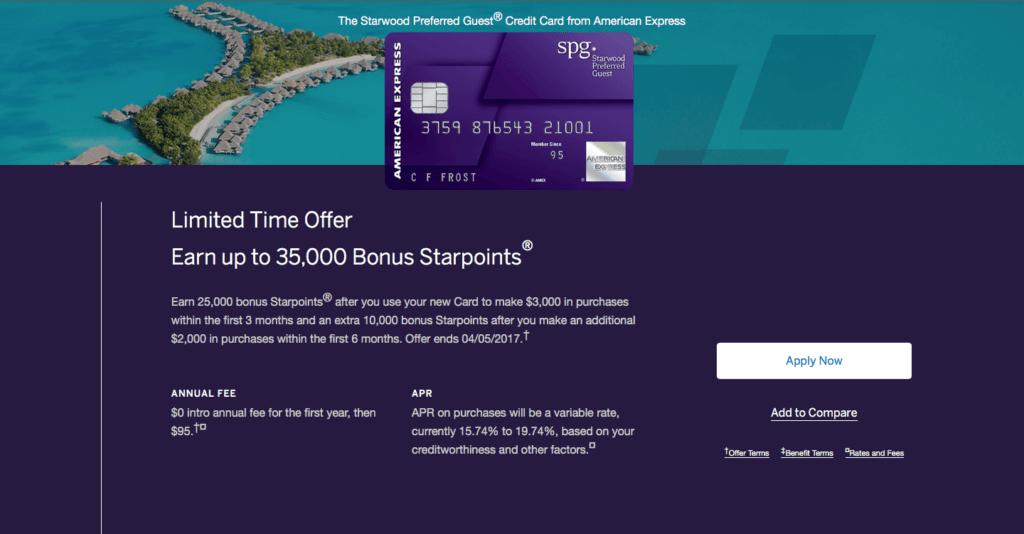 SPG Amex Increased Signup Bonus