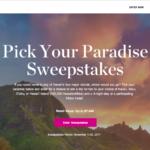 Hawaiian Air Pick Your Paradise Sweepstakes