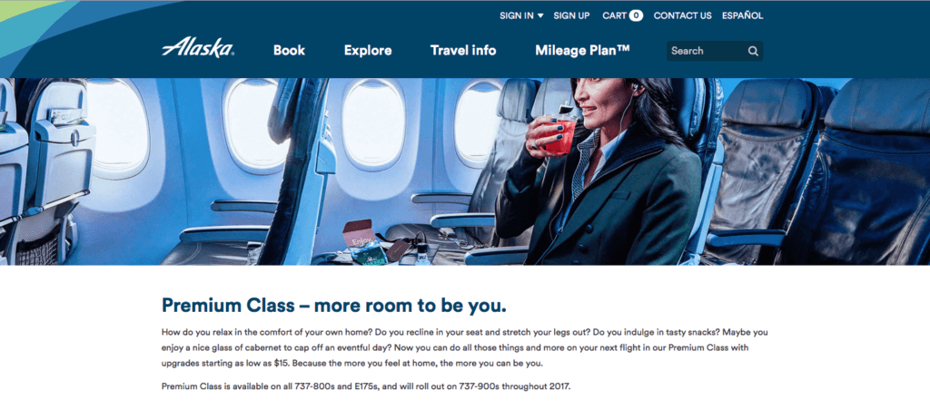 Alaska Air Premium Class HNL-SEA