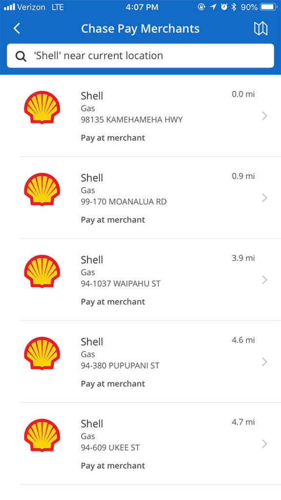 Chase Pay Partners with Shell Fuel Rewards